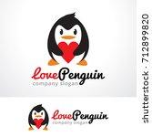 love penguin logo template... | Shutterstock .eps vector #712899820