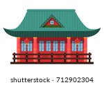 chinese pagoda. chinese and... | Shutterstock .eps vector #712902304