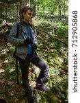 teenage boy with backpack... | Shutterstock . vector #712905868