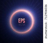 total eclipse of the sun. space ... | Shutterstock .eps vector #712906036