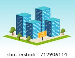 real estate building.... | Shutterstock .eps vector #712906114