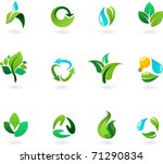 nature and environment icon set | Shutterstock .eps vector #71290834