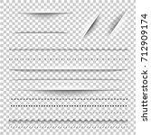 dividers gradient mesh  vector... | Shutterstock .eps vector #712909174