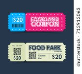 food park and foodland coupon... | Shutterstock .eps vector #712912063