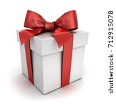 gift box   present box with red ... | Shutterstock . vector #712915078