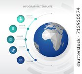 infographic template with five... | Shutterstock .eps vector #712920574