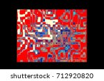 beautiful color abstract... | Shutterstock . vector #712920820