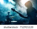 A drummer and bass guitarist....