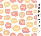 speech bubbles seamless pattern.... | Shutterstock .eps vector #712921864