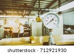 closeup of manometer  pressure... | Shutterstock . vector #712921930