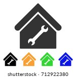 repair building icon. vector... | Shutterstock .eps vector #712922380