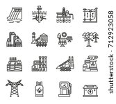 energy industry icons set.... | Shutterstock .eps vector #712923058