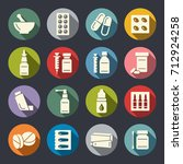 pharmacy icon set | Shutterstock .eps vector #712924258