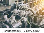 industrial machine in the... | Shutterstock . vector #712925200
