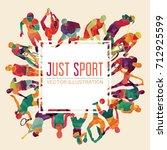 color sport background.... | Shutterstock .eps vector #712925599