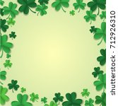 vector background with clover... | Shutterstock .eps vector #712926310
