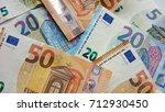 fifty  twenty and five euro... | Shutterstock . vector #712930450