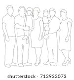 vector  sketches  contours... | Shutterstock .eps vector #712932073