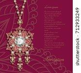 filigree jewelry pendant...   Shutterstock .eps vector #712933249