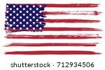grunge usa flag | Shutterstock .eps vector #712934506