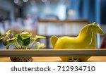 decoration on bookshelf | Shutterstock . vector #712934710