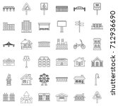 construction icons set. outline ... | Shutterstock .eps vector #712936690