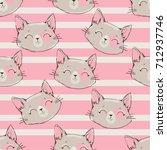 seamless pattern vector  cat... | Shutterstock .eps vector #712937746