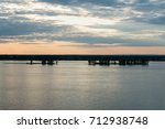 sunset along the st. lawrence... | Shutterstock . vector #712938748