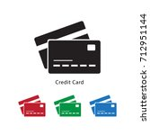 credit card icon vector... | Shutterstock .eps vector #712951144