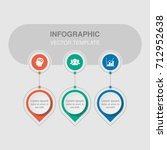 vector infographic template for ... | Shutterstock .eps vector #712952638