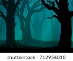 background with silhouettes of ...   Shutterstock .eps vector #712956010