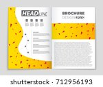 abstract vector layout... | Shutterstock .eps vector #712956193