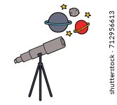 cartoon telescope | Shutterstock .eps vector #712956613