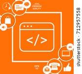 code editor icon | Shutterstock .eps vector #712957558