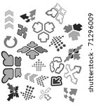 set of arrow icons   also as... | Shutterstock .eps vector #71296009
