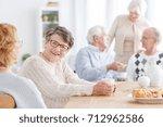 senior social life concept ... | Shutterstock . vector #712962586
