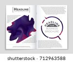 abstract vector layout... | Shutterstock .eps vector #712963588