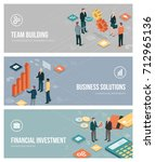 business people  teamwork ... | Shutterstock .eps vector #712965136