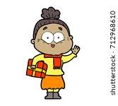 cartoon happy old woman | Shutterstock .eps vector #712968610