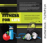 poster shows rules for healthy... | Shutterstock .eps vector #712969114