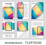 abstract vector layout... | Shutterstock .eps vector #712970230