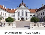 Royal Palace of Godollo in Hungary on a sunny afternoon.