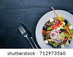 greek salad. fresh vegetables...