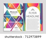 abstract vector layout... | Shutterstock .eps vector #712973899
