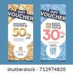gift voucher design template. | Shutterstock .eps vector #712974820