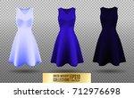 women's dress mockup collection.... | Shutterstock .eps vector #712976698