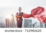 young confident businesswoman...   Shutterstock . vector #712982620