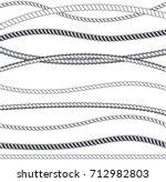 rope marine line seamless...   Shutterstock .eps vector #712982803