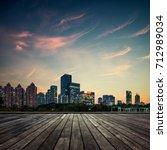 modern urban landscape in the... | Shutterstock . vector #712989034