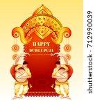 vector illustration of happy... | Shutterstock .eps vector #712990039